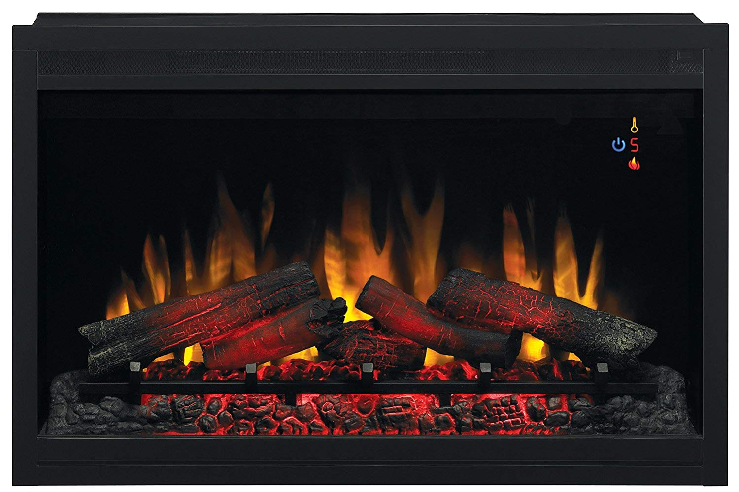 ClassicFlame 36EB110-GRT 36 Traditional Built in Electric Fireplace Insert, 120 volt