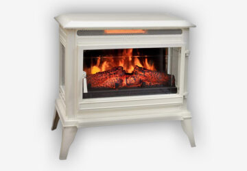 Comfort-Smart-Jackson-Infrared-Electric-Fireplace-Stove-Heater,-Cream--CS-25IR-CRM