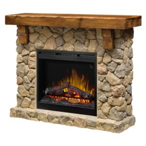 Dimplex SMP - 904 - ST Fieldstone Pine And Stone - Look Electric Fireplace Mantel GDS26L5- 904ST.