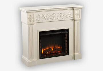 Southern-Enterprises-Calvert-Carved-Electric-Fireplace,-Ivory-Finish-with-Brushed-Texture