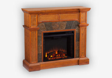 Southern-Enterprises-Cartwright-Convertible-Electric-Fireplace,-Mission-Oak-Finish-with-Earth-Tone-Tiles-(2)