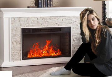 Does an electric fireplace have a real flame