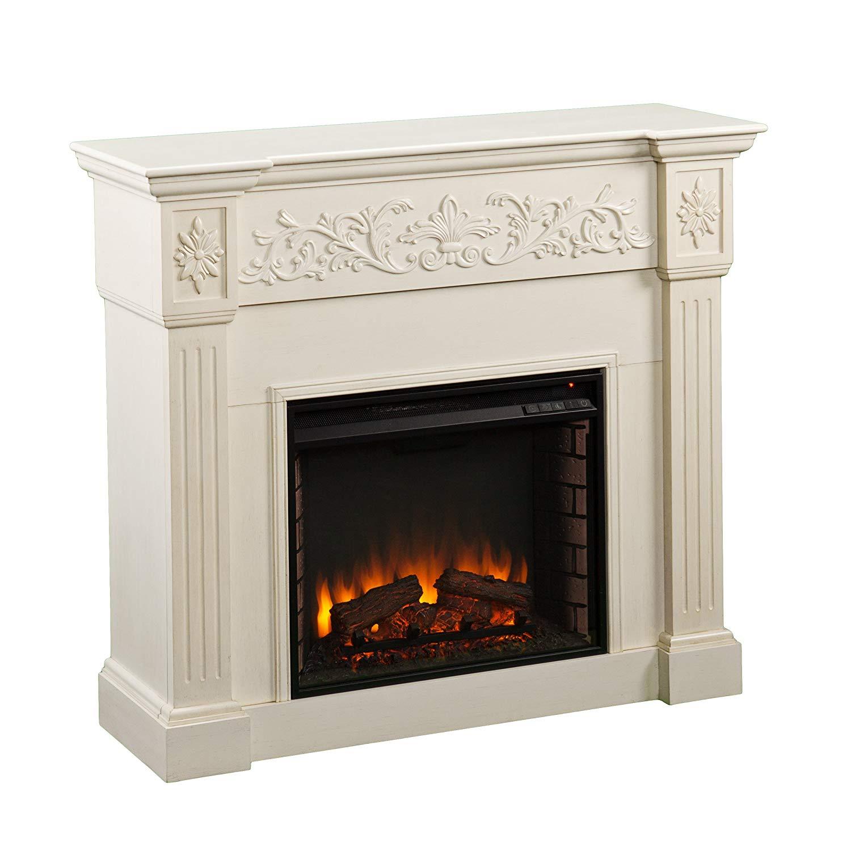 Southern Enterprises Calvert most realistic electric fireplace