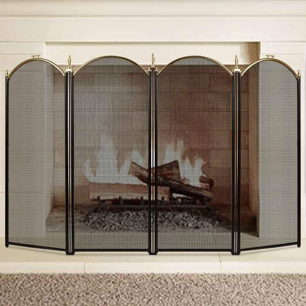 Large Gold Fireplace Screen