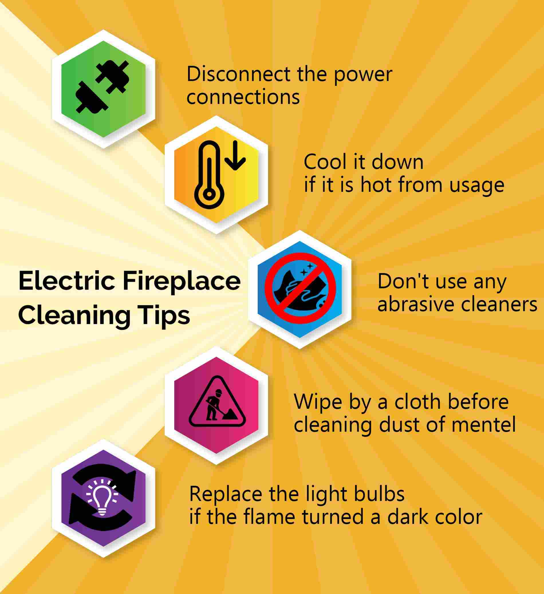 Electric Fireplace cleaning Tips