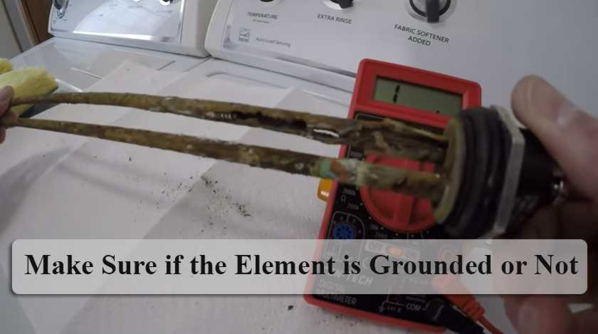 Make sure if the element is grounded or not
