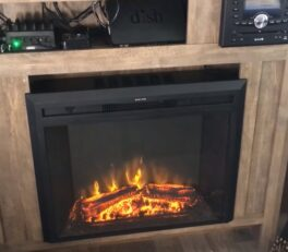 Install an electric fireplace in an RV